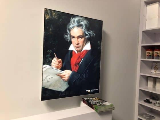 Beethoven Bildnis im Besucherzentrum