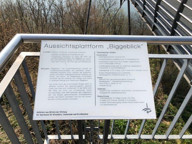 Hinweistafel Bigge-Blick
