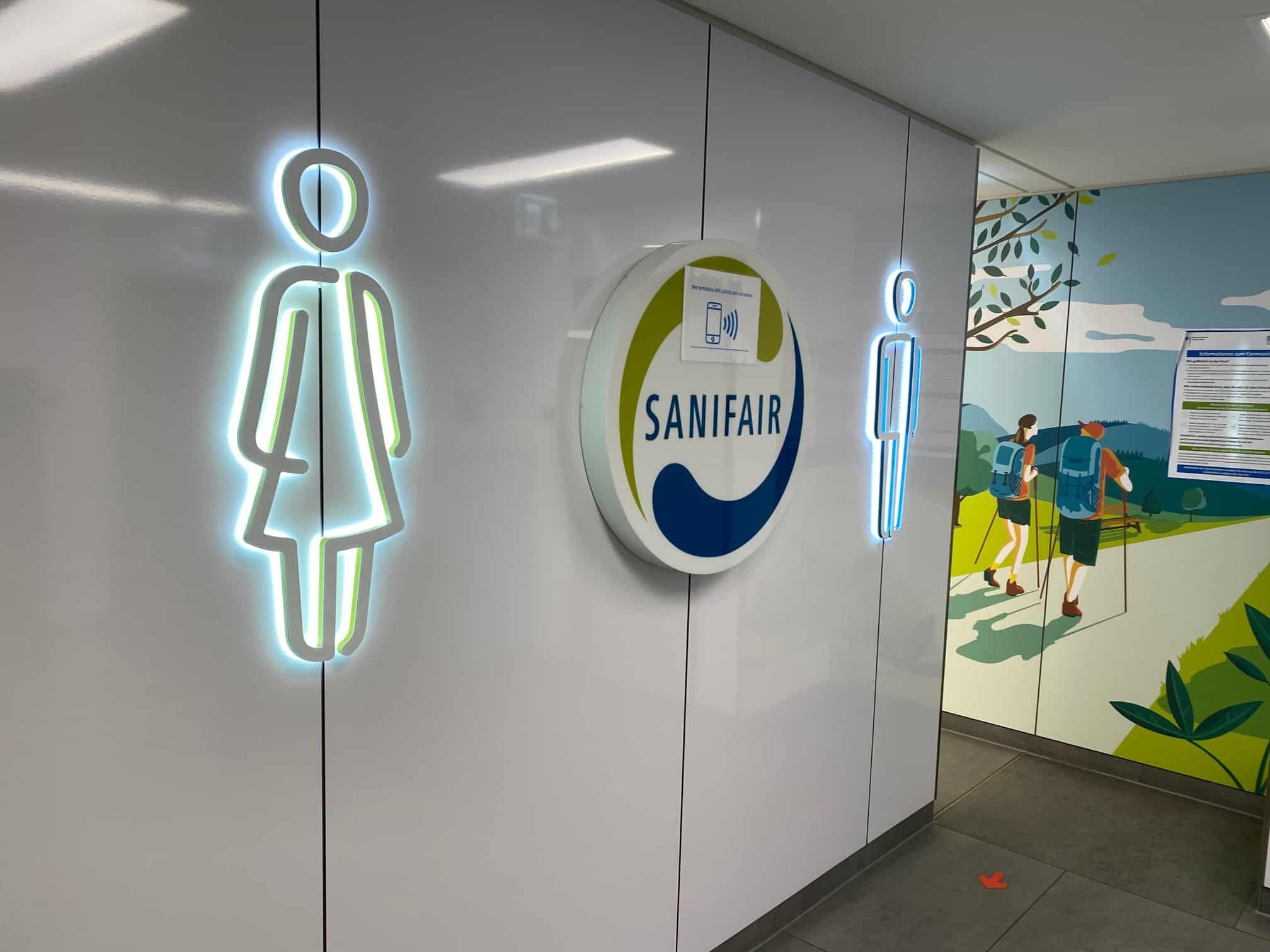 Toiletten-Bereich Raststätte Raststätte Sauerland-West