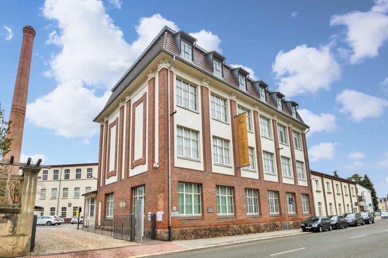 Gebäude, das Geschichte schreibt: Tuchfabrik Pfau in Crimmitschau