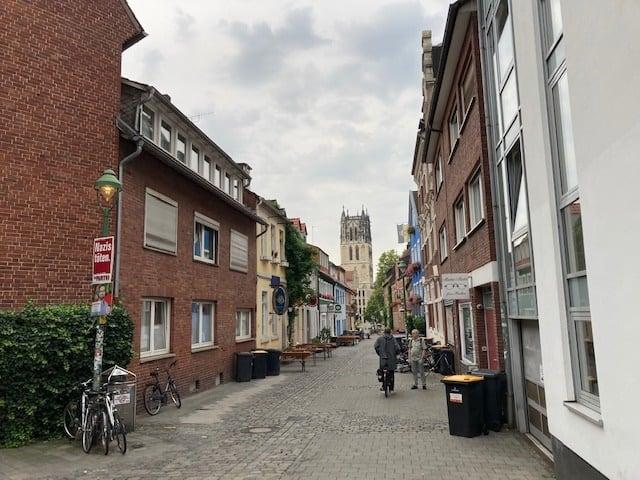 Kreuzstraße mit Blick auf die Überwasserkirche