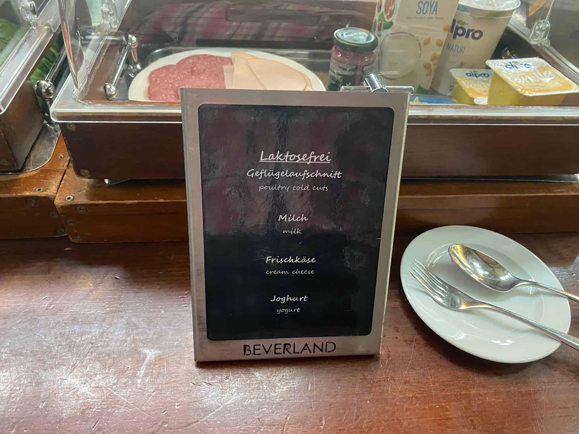 Auszeichnung laktose- und glutenfreie speisen