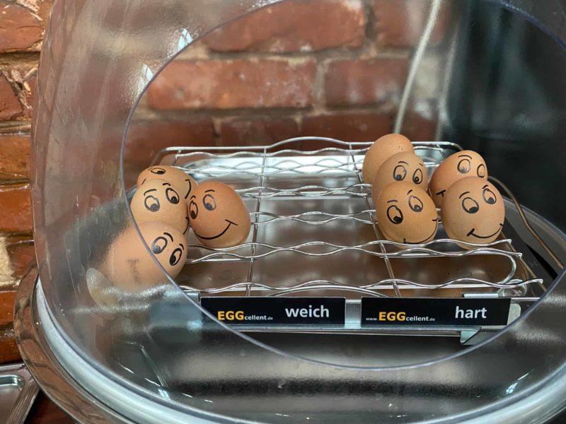 Eier lustig bereitgestellt