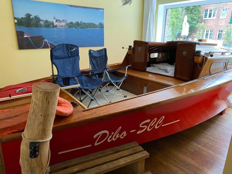 Segelboot-Zimmer im Landhotel Beverland