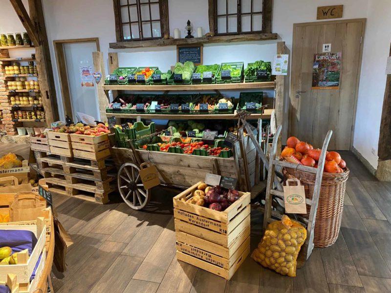 Frisches Obst und Gemüse auseigenem Anbau