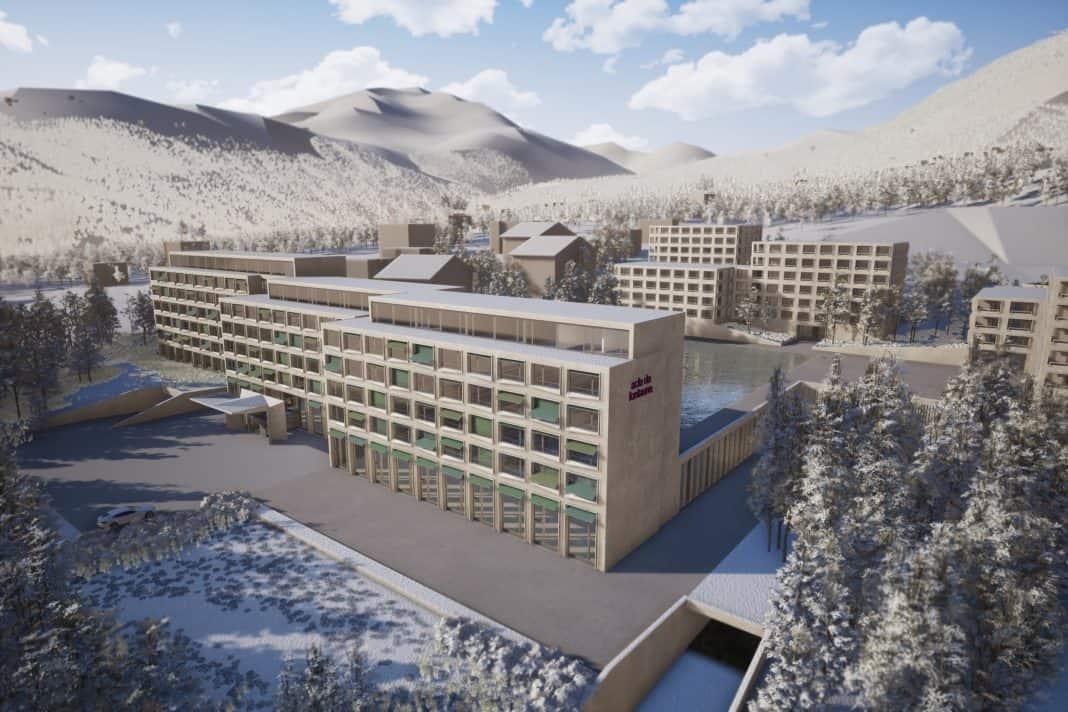 Grundstein für Mövenpick Hotel in Disentis im Kanton Graubünden gelegt
