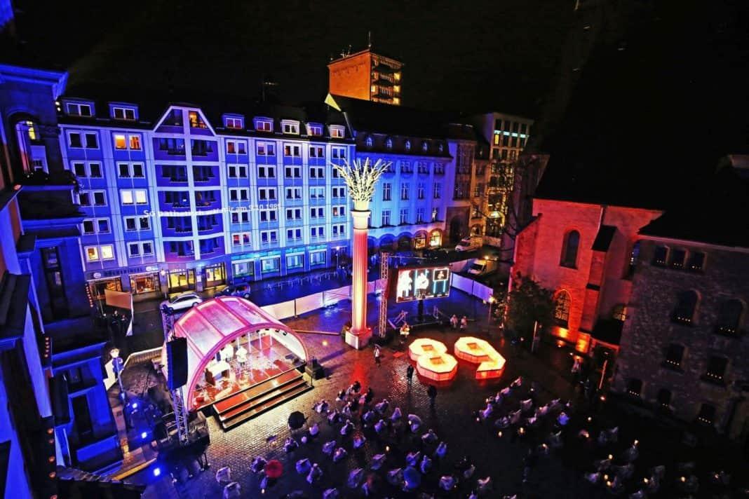 Auch 2020 Lichtfest Leipzig auf dem Nikolaikirchhof