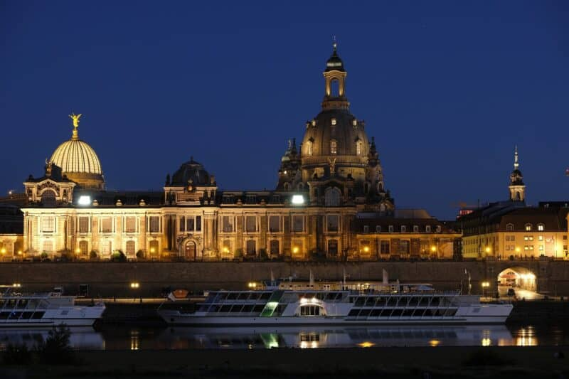 Skyline Dresden mit Blick auf Residenzschloss
