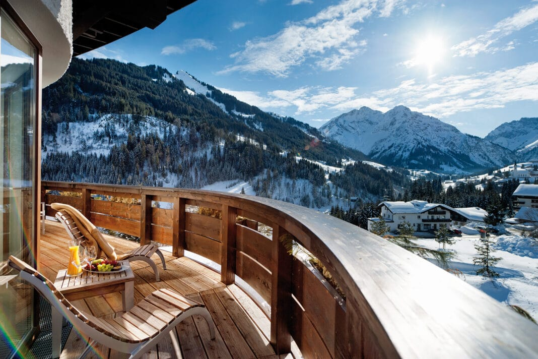 Ifen Hotel Kleinwalsertal, Blick vom Balkon