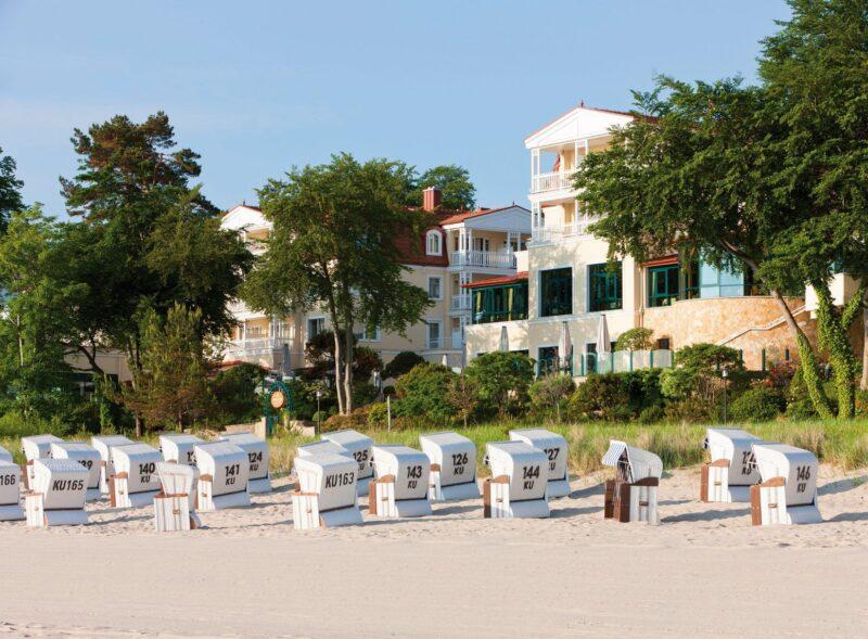 Strandidylle vor dem Hotel