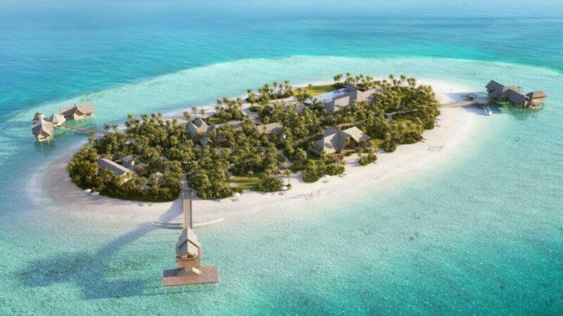 Edler Rückzugsort – die Privatinsel des Waldorf Astoria Maldives Ithaafushi ist ausschließlich exklusiv buchbar. Bild: Waldorf Astoria Hotels & Resorts