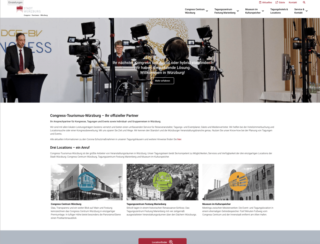 Neues B2B-Portal für MICE-Events in Würzburg