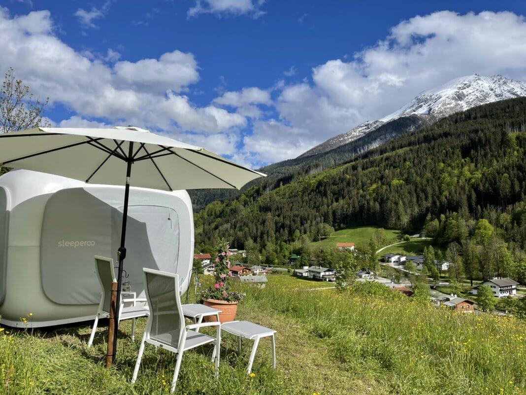 Berghotel Rehlegg: Schlafkapsel zum Übernachten in der Natur