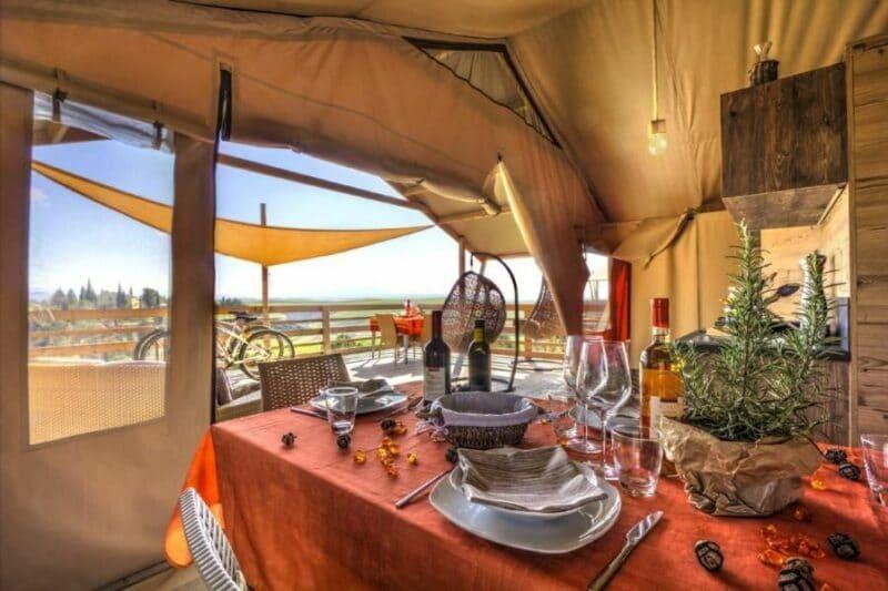 Die Toskana genießen: Glamping-Zelt Diacceroni in der Nähe von Pisa