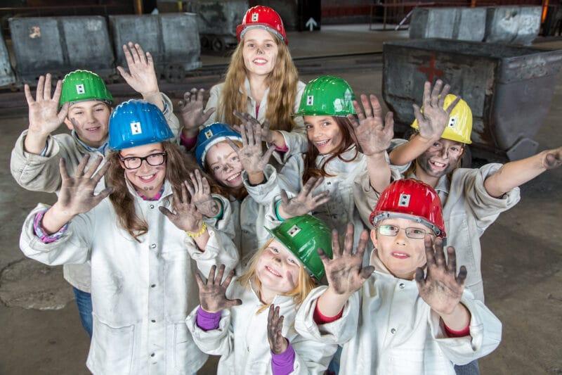 Denkmapfad Kinderprogramm auf Zeche Zollverein